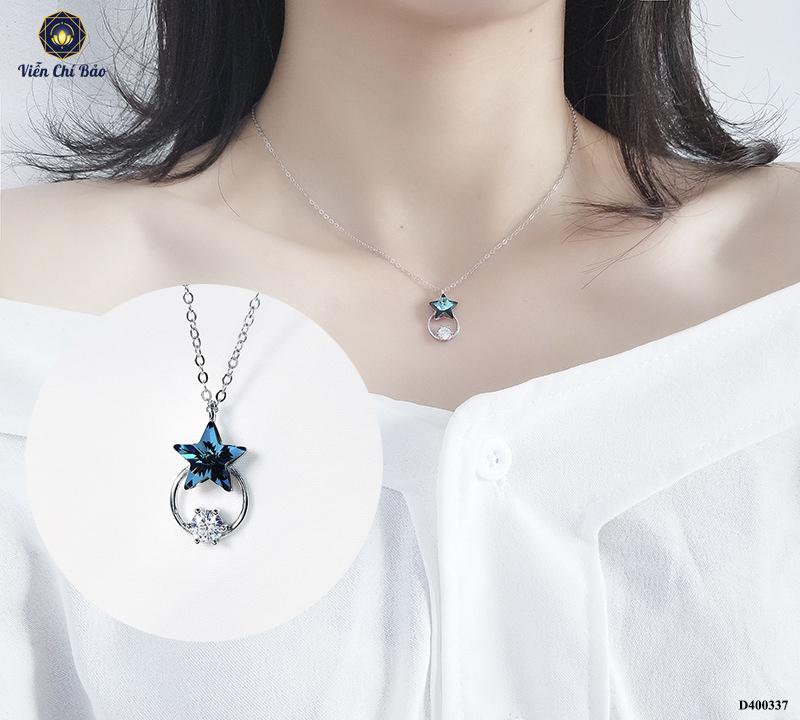 day-chuyen-deo-co-nu-sao-xanh-duong-tron-da-trang